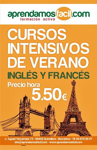 CURSOS INTENSIVOS INGLÉS Y FRANCÉS DE VERANO GRANOLLERS